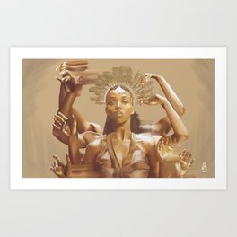 FKA Twigs - Queen of the Damned Art Print