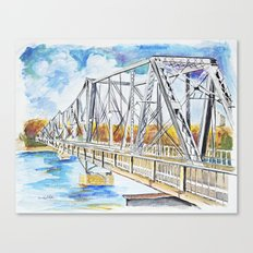 Bridge the Borders  Canvas Print