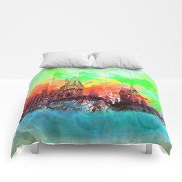 Watercolor Hogwarts Comforters