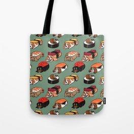 Sushi  Basset Hound Tote Bag