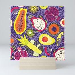 Fruit pattern Mini Art Print