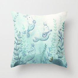 Merbuns Throw Pillow