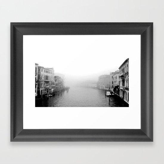 Fog in Venice Framed Art Print