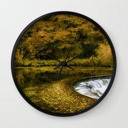 Autumn on the River Lathkill Wall Clock