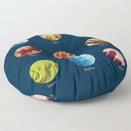 Away from Home and Back - dark Floor Pillow
