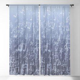 Aquatic Chords Sheer Curtain