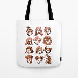 girl face Tote Bag