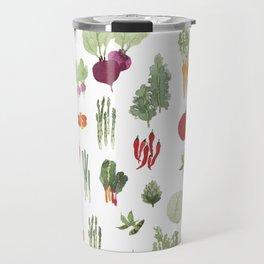 Fresh Vegetables Watercolor Travel Mug