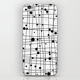 Woven Web black and white iPhone Skin