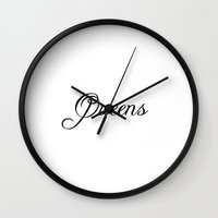 queens of the stone age Wall Clocks featuring Queens by Blocks & Boroughs