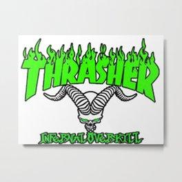 thrasher mag logo tattoos Metal Print