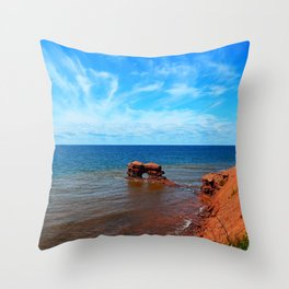 Sandstone holy rock Throw Pillow