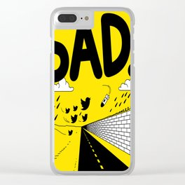 have meant  tech science future sad yellow street Clear iPhone Case
