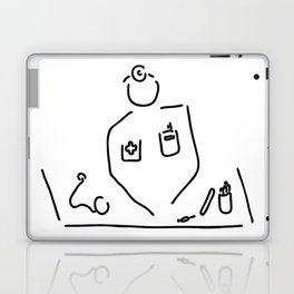 doctor with medicine utensils Laptop & iPad Skin