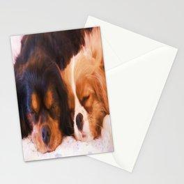 Sleeping Buddies Cavalier King Charles Spaniels Stationery Cards