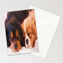 Sleeping Buddies Cavalier King Charles Spaniels Stationery Cards