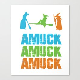 Amuck Magical Words Witches Halloween Party Shirt Canvas Print