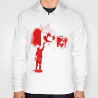 canada Hoodies featuring Canada Tagger by Kris alan apparel