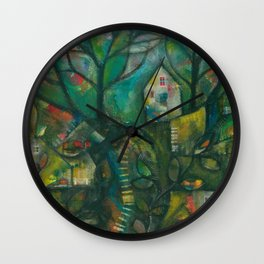 In the Deep Woods Wall Clock