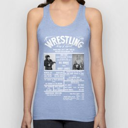 18-B Memphis Wrestling Window Card Unisex Tank Top