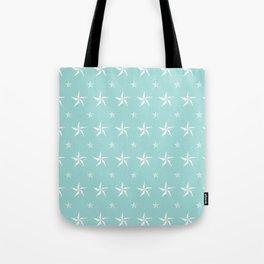 Stella Polaris Turquoise Design Tote Bag