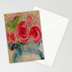 Flowers in a blue vase Stationery Cards