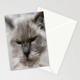 White Persian Cat In Watercolor Stationery Cards