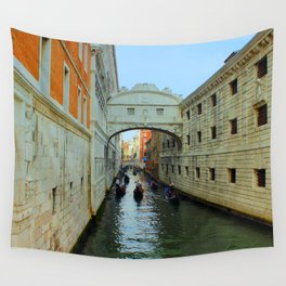 Bridge of Sighs, Venice, Italy,  in the late afternoon sun. Wall Tapestry