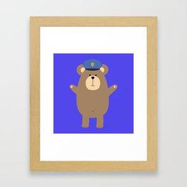 Happy Police Officer Framed Art Print