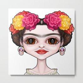 Frida's Flowers Metal Print
