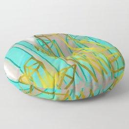Crystals - Cyan Floor Pillow