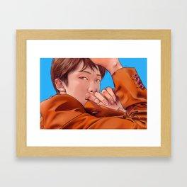 in Fall /BTS RM KimNamjoon Framed Art Print