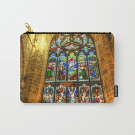 Cathedral Stained Glass Window Carry-All Pouch