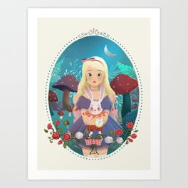 Alice in Wondeland Art Print