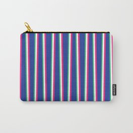 Between the Trees Blue, Pink & Green #571 Carry-All Pouch