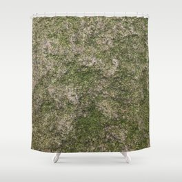 Stone and moss Shower Curtain