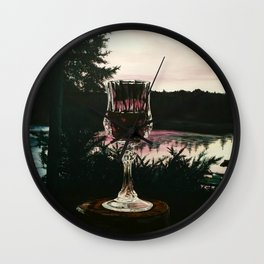 Water and Wine Wall Clock