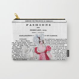 Regency Fashion Plate 1819, La Belle Assemblee Carry-All Pouch