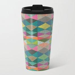 Colorblock Tribal Triangle Pattern Travel Mug