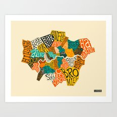 LONDON BOROUGHS Art Print