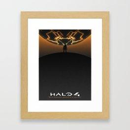 Halo 4 Minimalistic Forerunner Poster - White Border Framed Art Print