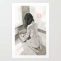record Art Prints featuring Record Collection by Bryan James