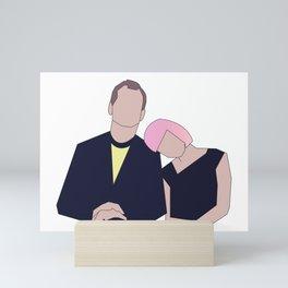 Bill & Scarlett Mini Art Print