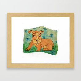 Frank the Puppy Framed Art Print