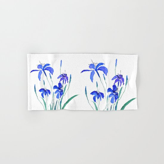 blue day lily Hand & Bath Towel