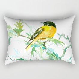 Baltimore Oriole Birds and White Oak Tree Rectangular Pillow