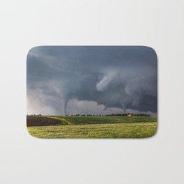 Twins - Two Tornadoes Touch Down Near Dodge City Kansas Bath Mat