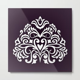 white damask composition1 Metal Print