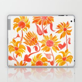 Sunflower Watercolor – Fiery Palette Laptop & iPad Skin