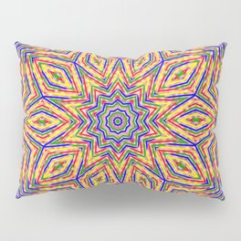 Kaleidoscope Colourful Stripes With Pink Background Pillow Sham